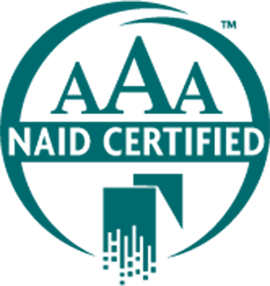 NAID AAA Certified logo Gilmore Services