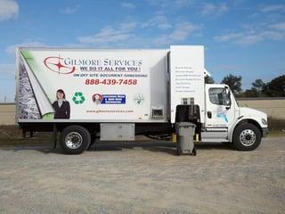 Gilmore Services, On site document shredding service