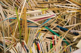 Shredded pile of paper
